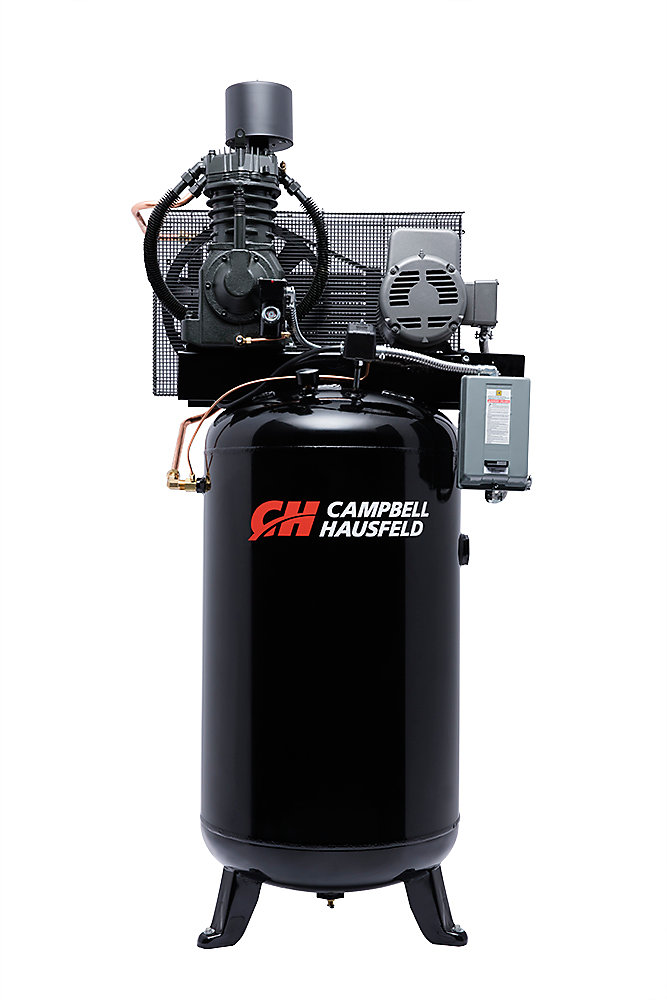 Air Compressor, 80 Gallon Fully Packaged 25CFM 7.5HP 208-230V 1PH (CE7000FP)