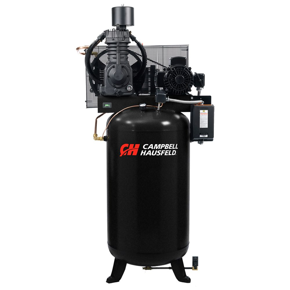 Air Compressor, 80 Gallon Fully Packaged 25CFM 7.5HP 208-230/460V 3PH (CE7001FP)