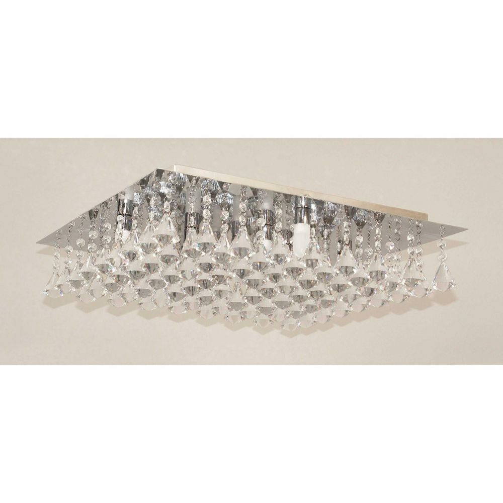Flushmount 9 Lights Clear/Frosted Glass Garland Collection