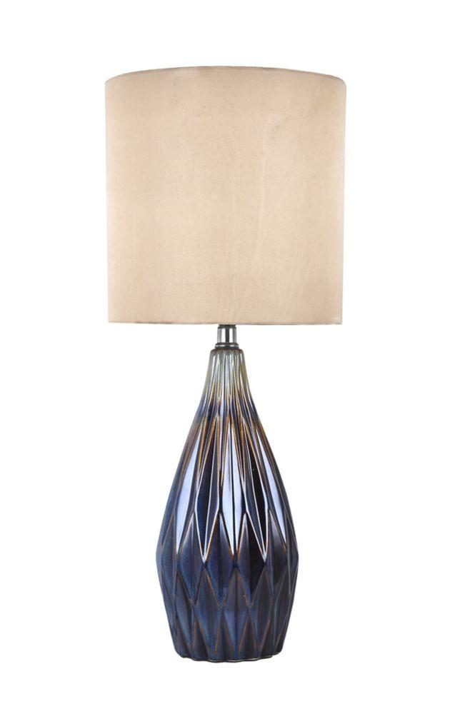 Lampe De Table En Ceramique Abat Jour Cylindré