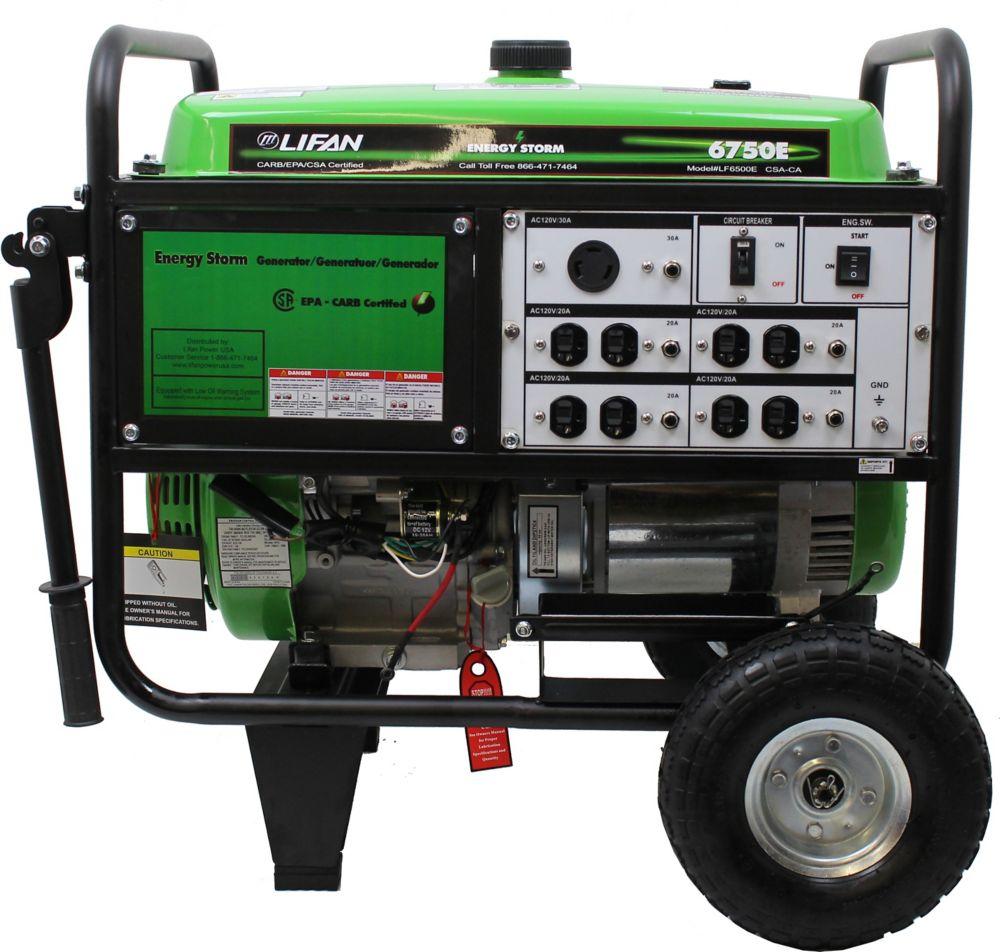 Génératrice portative à essence et démarrage électrique 6700W 389cm3 13 mhp Energy Storm