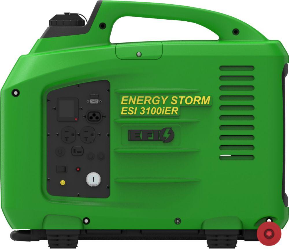 Génératrice à onduleur numériq. et inj. électro. dessence 3200W 150cm3, démar. élec. à distanc...