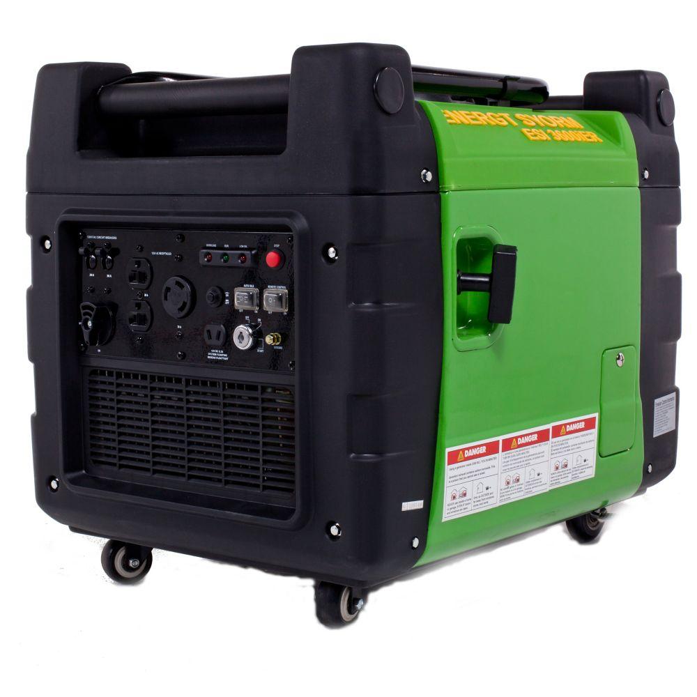 Génératrice à onduleur à essence 3600W 270cm3, démarreur électriq. à distance et clé électroni...