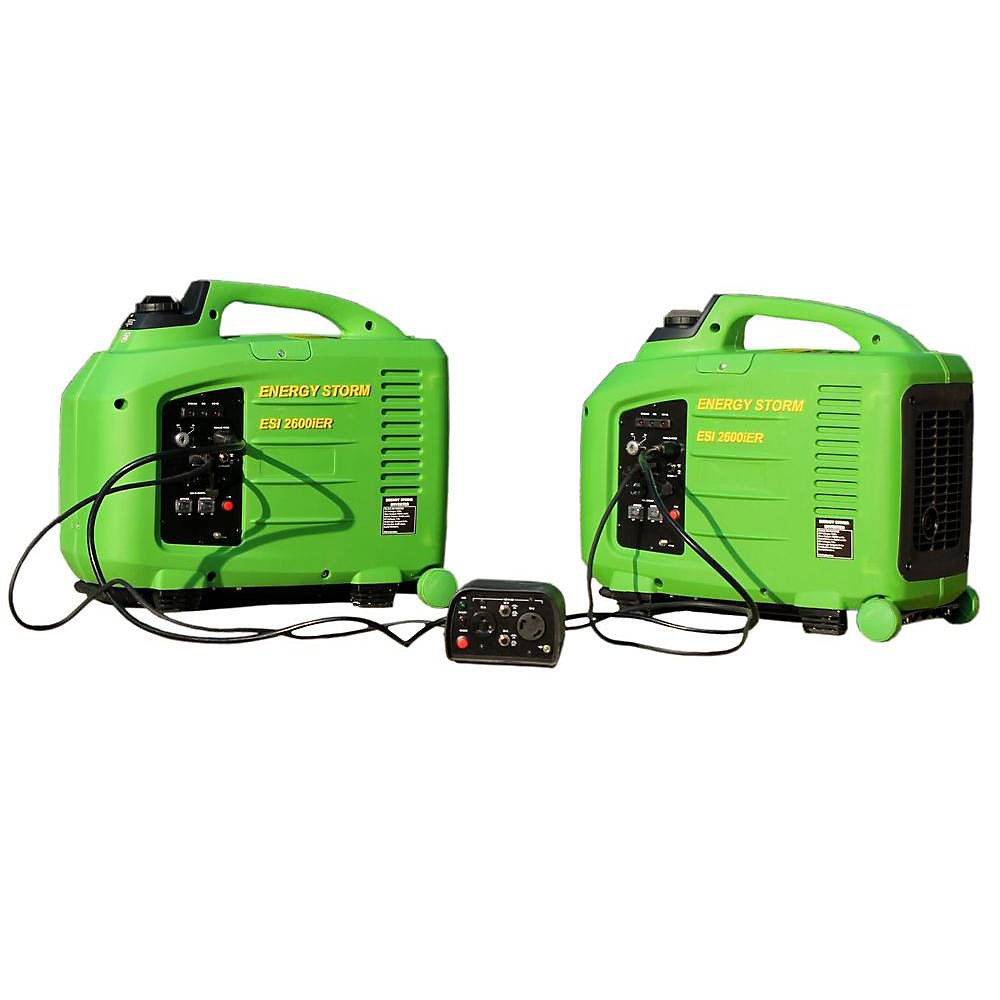 Energy Storm 2800W Gas Powered Remote Start Inverter Generator with Duopower Parallel Connection