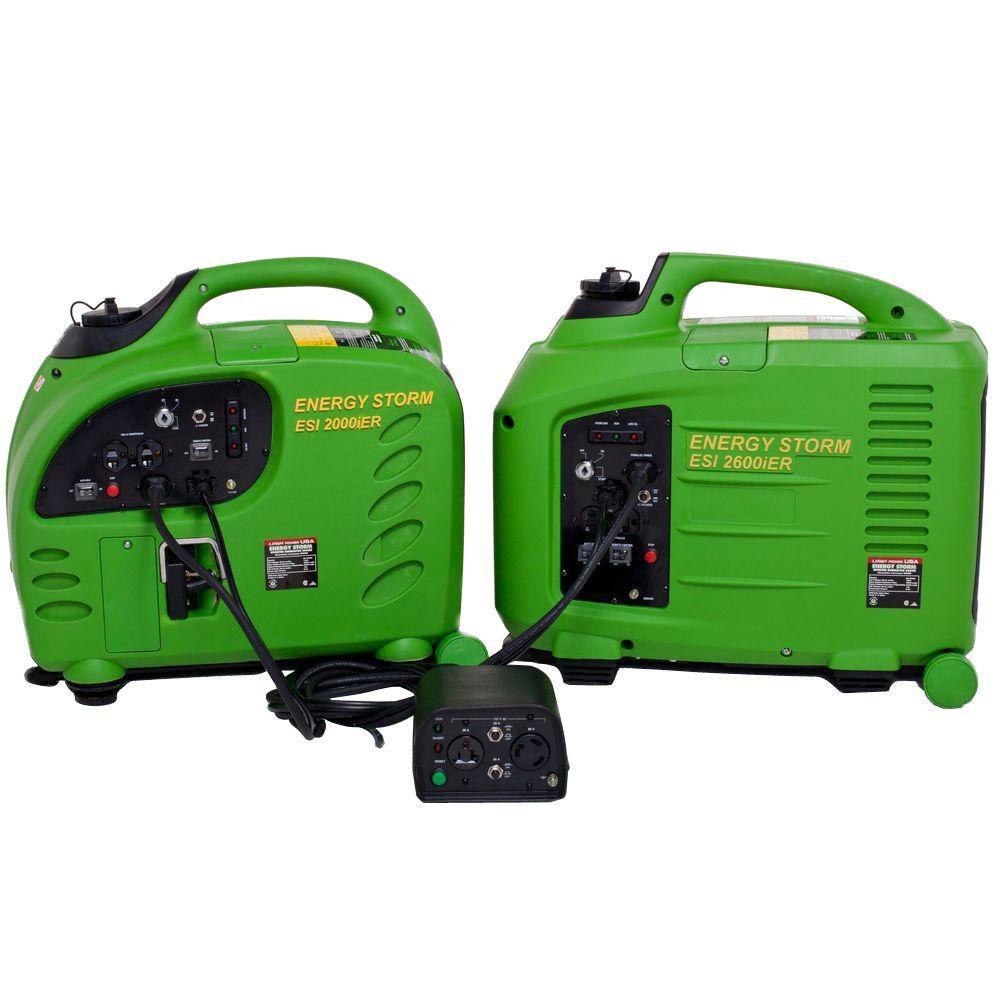 1 Each Energy Storm 2,200/2,800-Watt Gasoline Powered Remote Start Inverter Generator With Duopow...