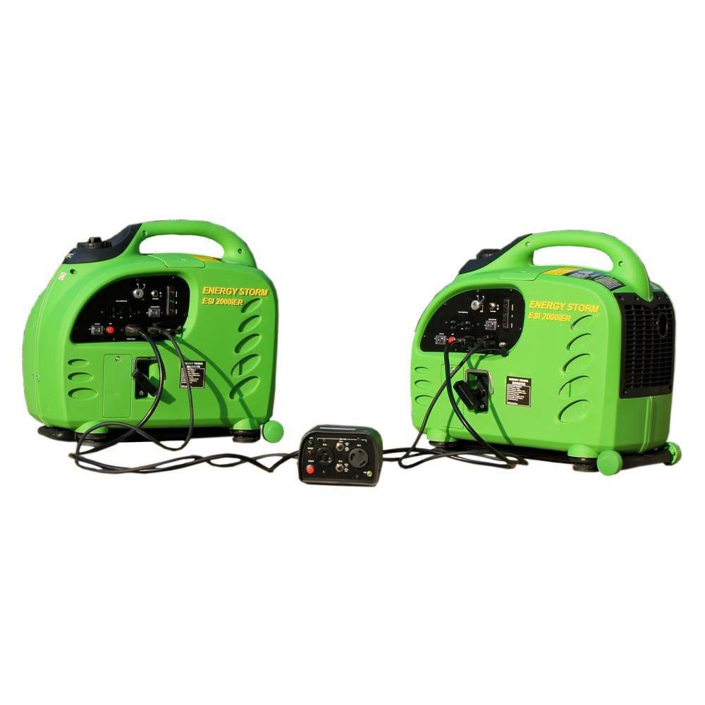 2 - Energy Storm 2,200-Watt Gasoline Powered Remote Start/Stop Inverter Generator With  Duopower ...