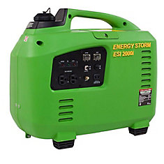 Energy Storm 2,000W 105cc Gasoline Powered Inverter Generator- 50 State Compliant
