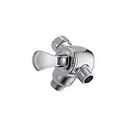 Delta Inverseur sur bras de douche à 3 voies pour douchette, chrome