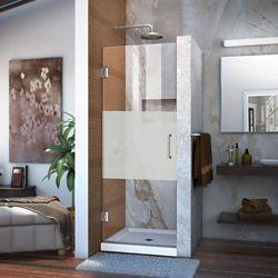 DreamLine DreamLine Unidoor 58 x 183 cm Porte de douche Articulée Sans cadre, fini Chrome, Verre demi-givré