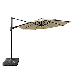 Island Umbrella Freeport 11 ft. Octagonal Cantilever Sunbrella Acrylic Patio Umbrella in Beige