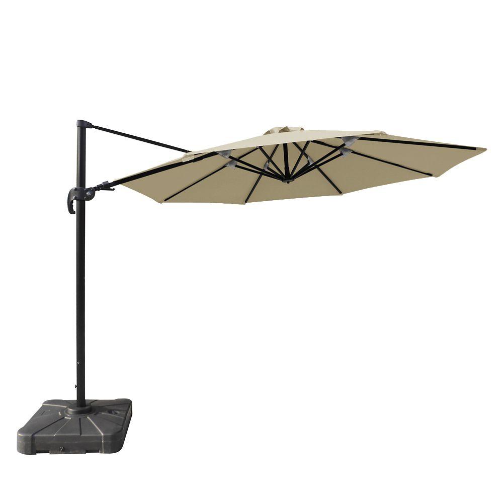 Island Umbrella Freeport 11 ft. Octagonal Cantilever Sunbrella Acrylic Patio Umbrella in Beige