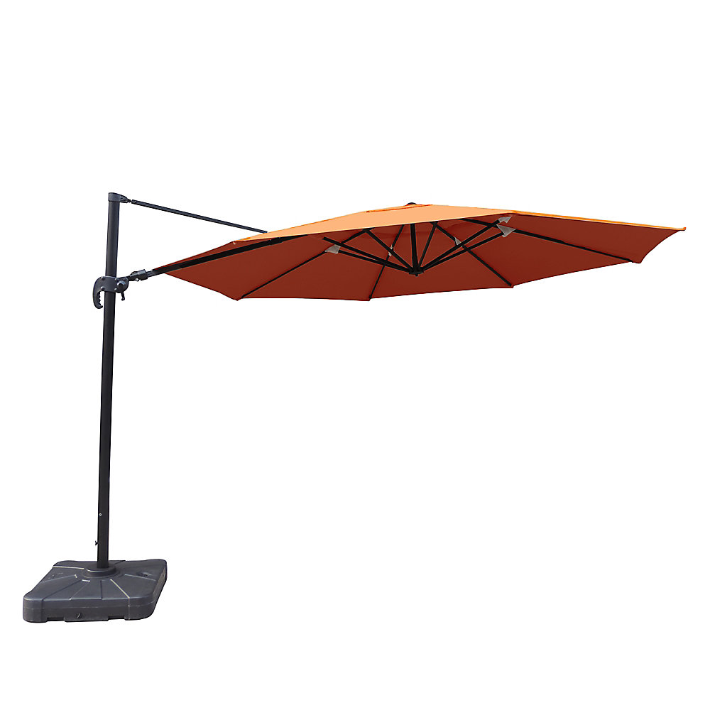 Victoria 13 ft. Octagonal Cantilever Sunbrella Acrylic Patio Umbrella in Terra Cotta