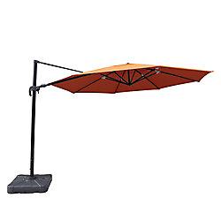 Island Umbrella Victoria 13 ft. Octagonal Cantilever Sunbrella Acrylic Patio Umbrella in Terra Cotta