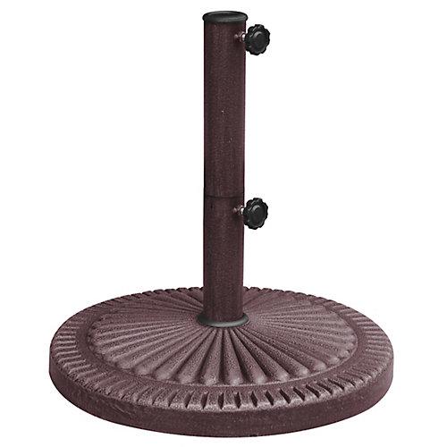Base de parasol de 30 kg (66 lb) résistante aux intempéries au fini en résine couleur bronze