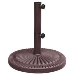 Island Umbrella Base de parasol de 30 kg (66 lb) résistante aux intempéries au fini en résine couleur bronze