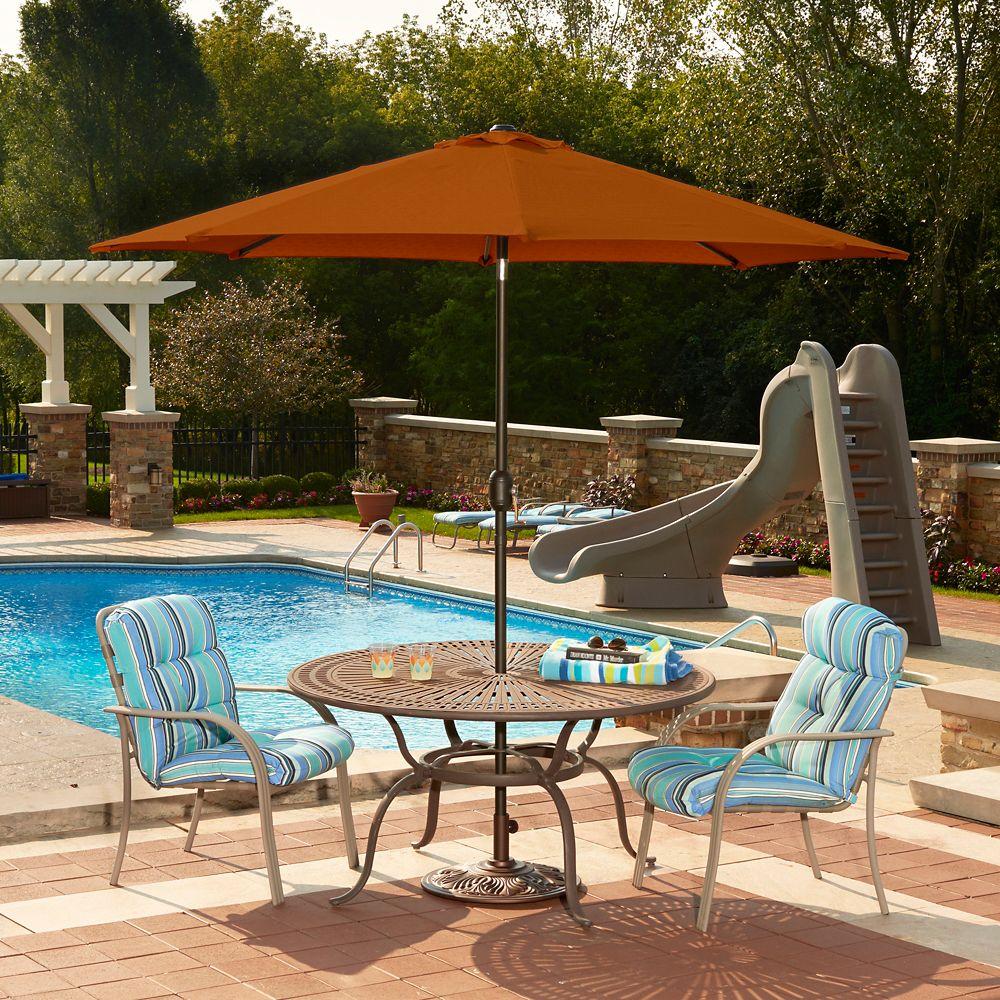 Mirage parasol, auto-inclinable, forme octogonale, 2,75 m en oléfine terra cotta