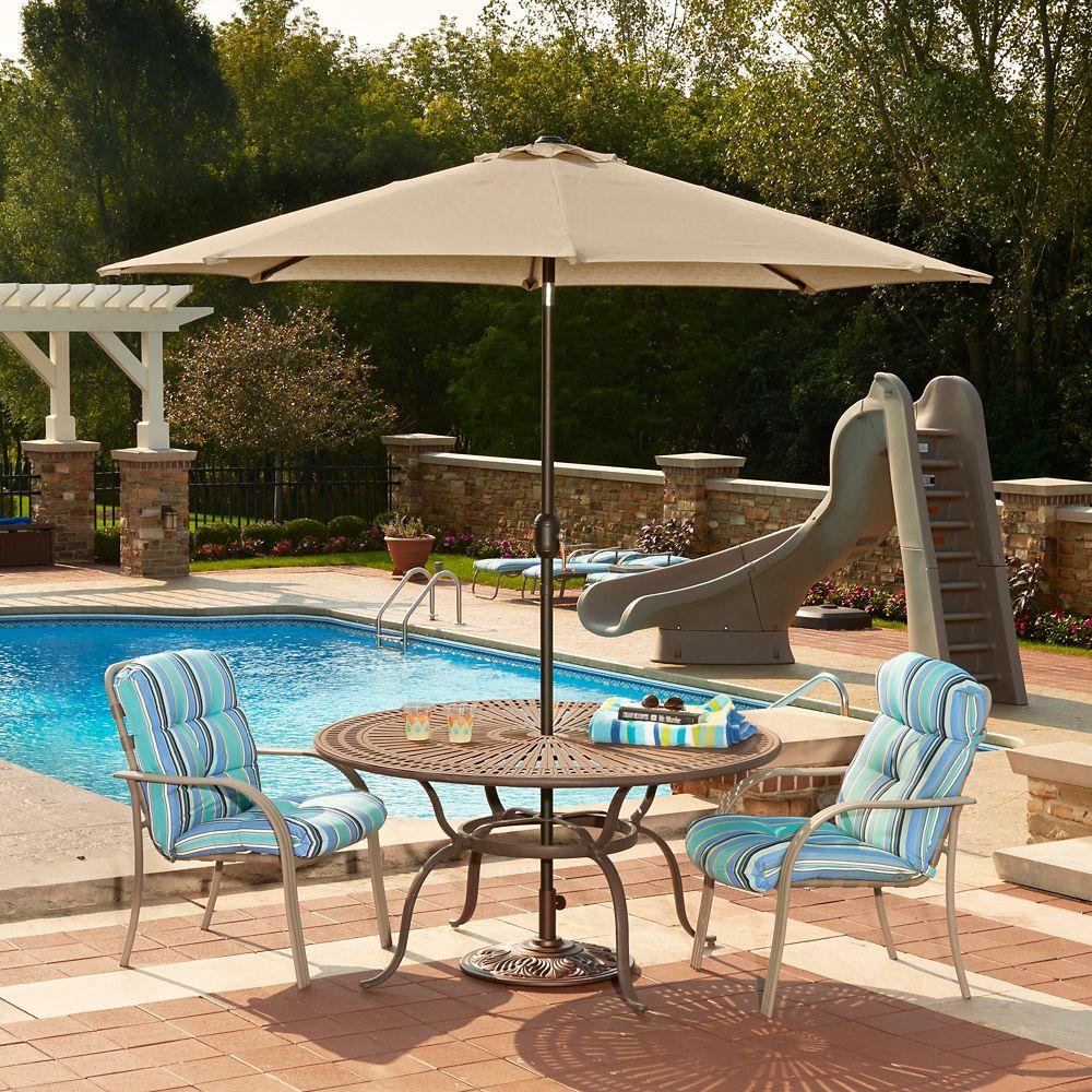 Mirage parasol, auto-inclinable, forme octogonale, 2,75 m en Beige acrylique Sunbrella<sup>®</sup...