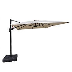 Santorini II 10 ft. Square Cantilever Sunbrella Acrylic Patio Umbrella in Beige