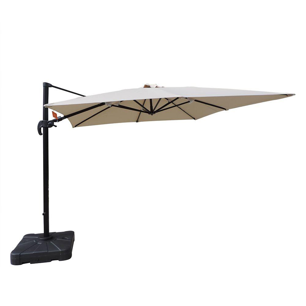Square Cantilever Sunbrella Acrylic Patio Umbrella In Beige