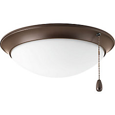 AirPro Collection 1-light Antique Bronze LED Ceiling Fan Light