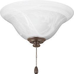 Progress Lighting Collection AirPro – Lumière de ventilateur de plafond à une ampoule à DEL, bronze antique