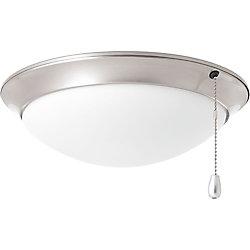 Progress Lighting Collection AirPro – Lumière de ventilateur de plafond à une ampoule à DEL, nickel brossé