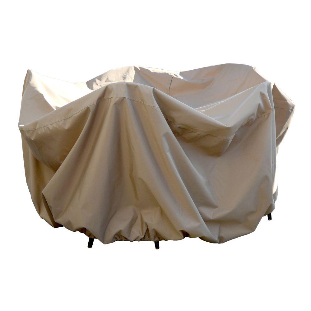 Housse protectrice 4 saisons pour table ronde de 121,92 cm et chaises avec trou pour parasol