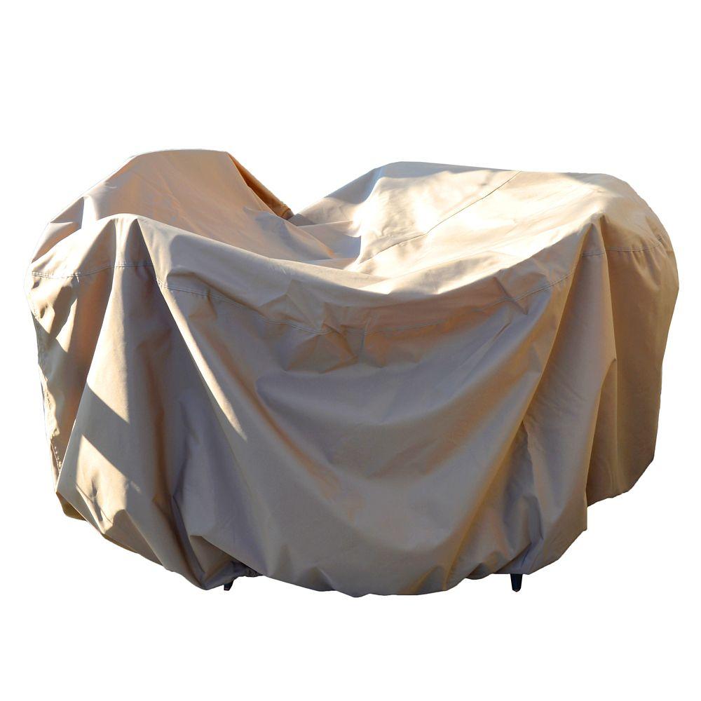 Housse protectrice 4 saisons pour table ronde de 137,16 cm et chaises avec trou pour parasol