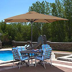 Island Umbrella Caspian 8 ft. x 10 ft. Rectangular Sunbrella Acrylic Market Umbrella in Stone