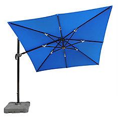 Santorini II 10 ft. Square Cantilever Sunbrella Acrylic Patio Umbrella in Blue