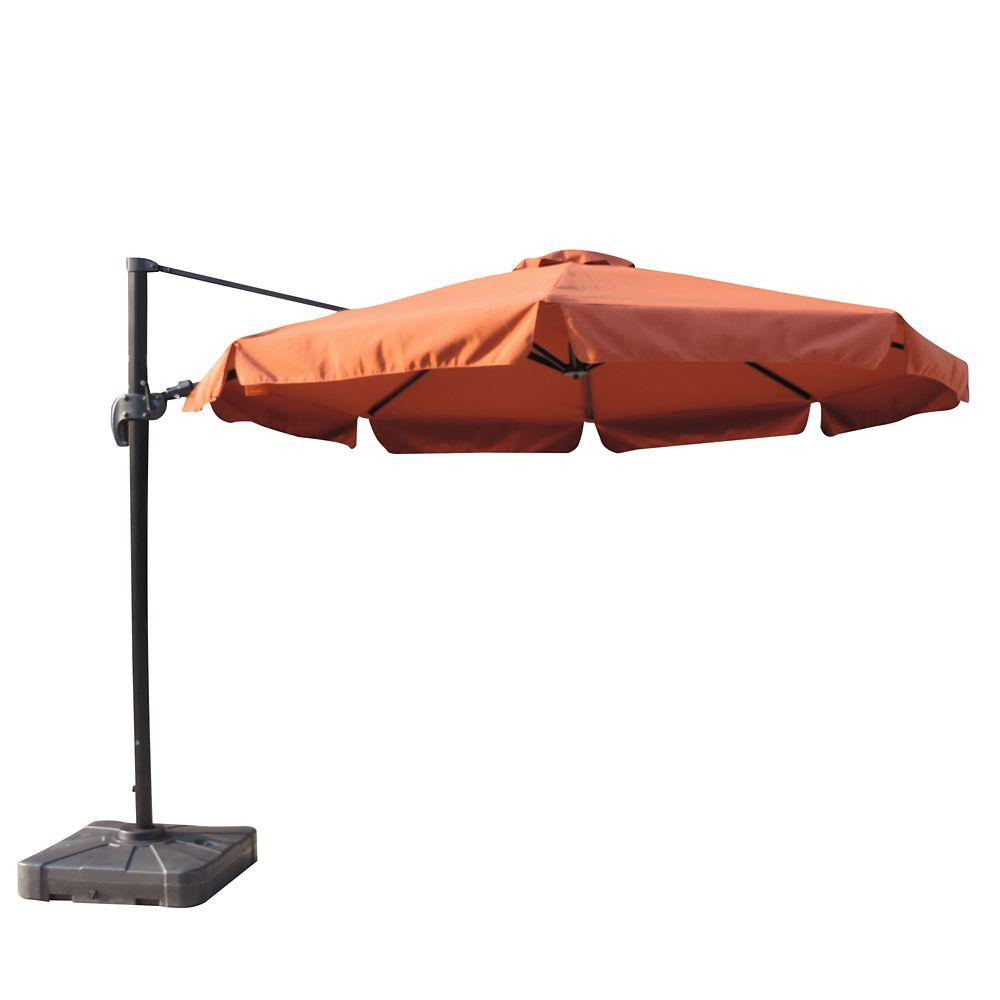 Freeport 11-ft Octagonal Cantilever w/ Valance Patio Umbrella in Terra Cotta Sunbrella Acrylic