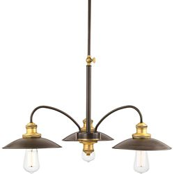 Progress Lighting Archives Collection 3-light Antique Bronze Chandelier