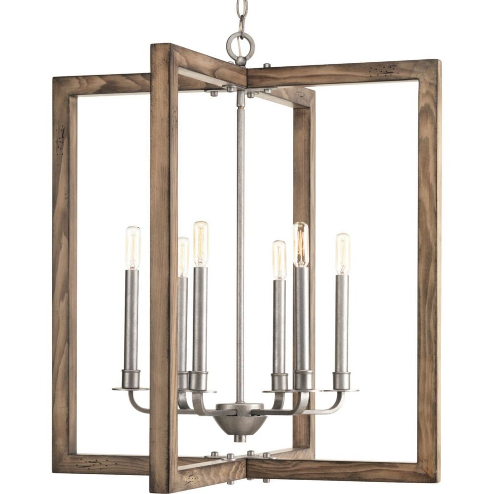 Turnbury Collection 6-light Galvanized Chandelier