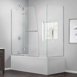 DreamLine DreamLine Aqua Ultra 152 cm x 147 cm Porte de baignoire Articulée Sans cadre, fini Chrome