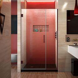 DreamLine Unidoor Plus 38-1/2 to 39-inch x 72-inch Semi-Frameless Pivot Shower Door with Hardware in Oil Rubbed Bronze with Handle