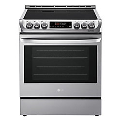 LG Electronics 6.3 cu. ft. Electric Slide-In Range with ProBake Convection and EasyClean in Stainless Steel