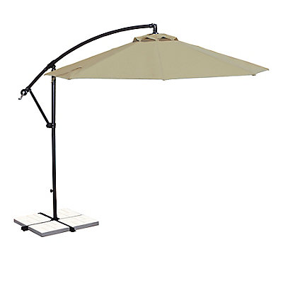 deck patio at standing free umbrellas home umbrella offset stand depot