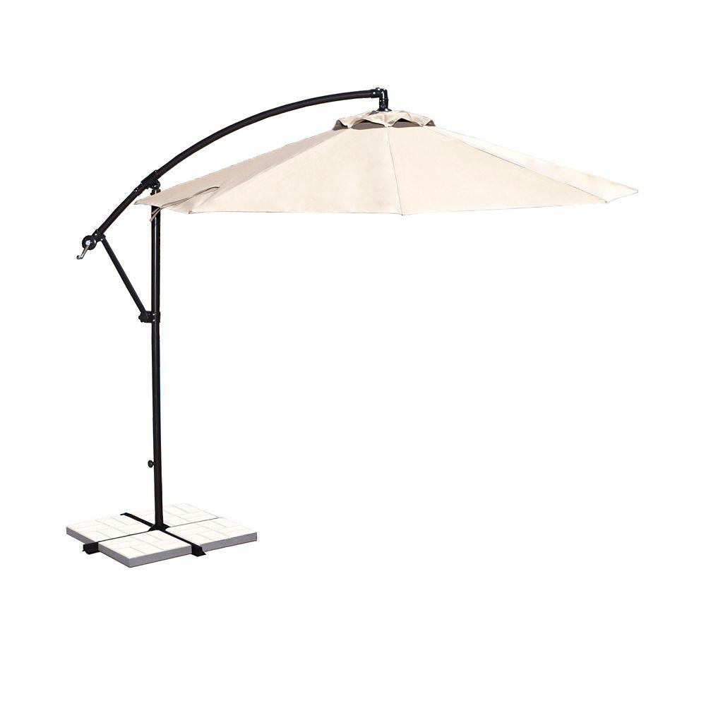 Santiago 10-ft Octagonal Cantilever Umbrella in Champagne Olefin