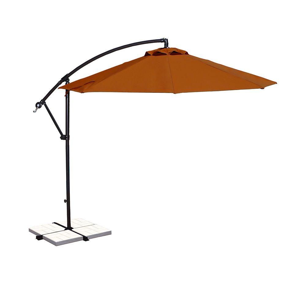 Santiago 10-ft Octagonal Cantilever Umbrella in Terra Cotta Olefin