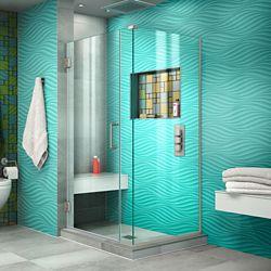 DreamLine Unidoor Plus 36 1/2 inch W x 30 3/8 inch D x 72 inch H Shower Enclosure Brushed Nickel