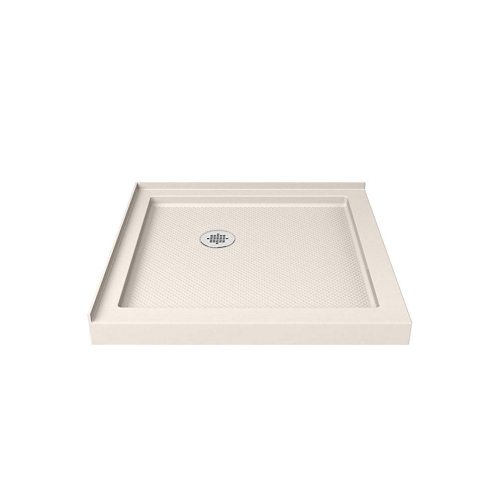 SlimLine 32-inch x 32-inch Double Threshold Shower Base in Biscuit