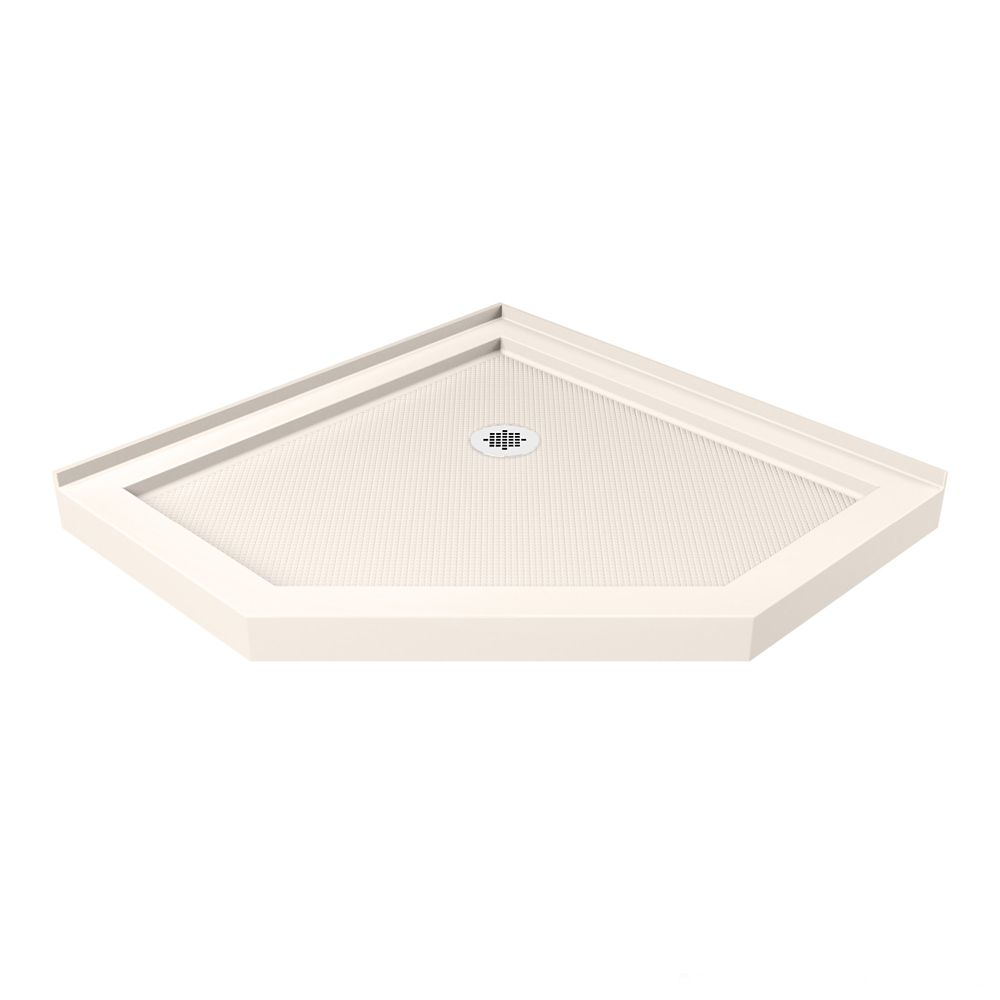DreamLine SlimLine 36-inch x 36-inch Neo-Angle Shower Base in Biscuit