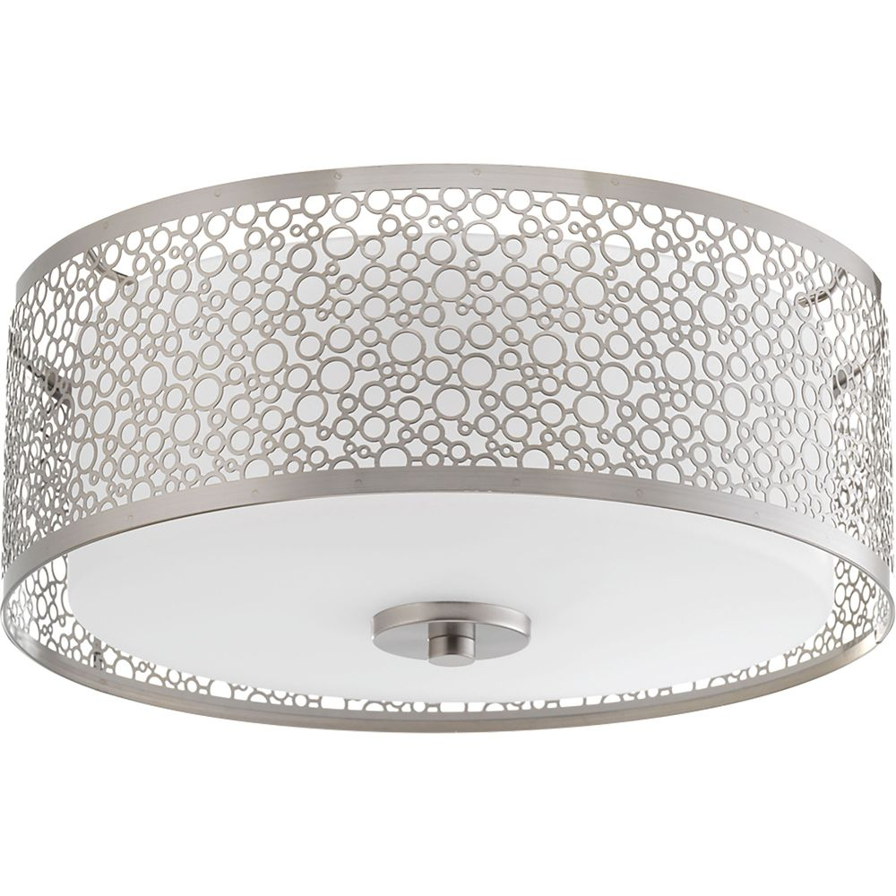 Mingle Collection 1-light Concentric LED Flushmount in Brushed Nickel