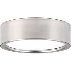 Portal Collection 1-light Brushed Nickel LED Flushmount