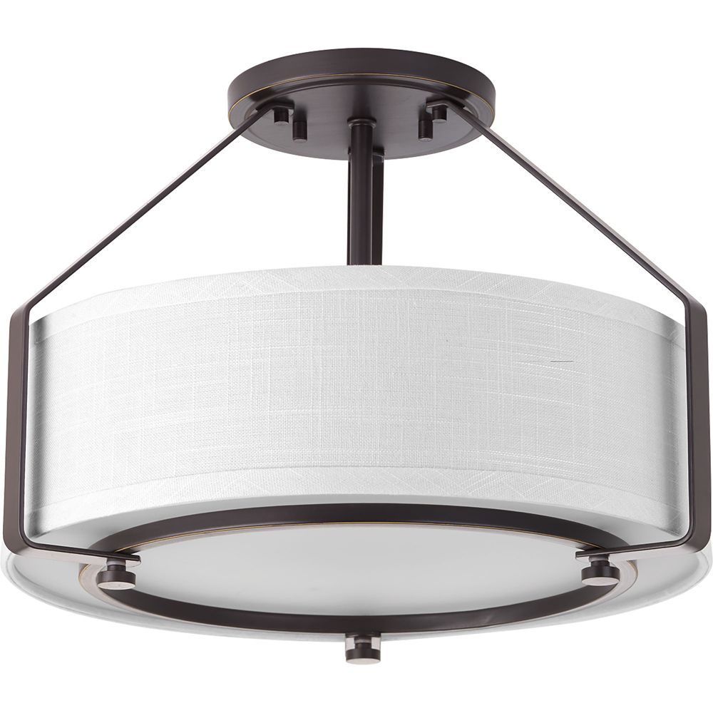 Progress Lighting Inspire Collection 3 Light Antique: Progress Lighting Inspire Collection Brushed Nickel 2
