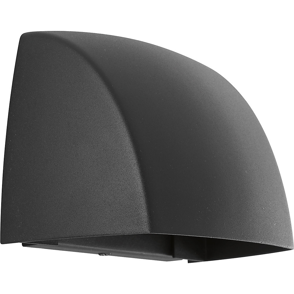 Cornice Collection 1-light Black LED Wall Sconce