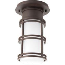 Progress Lighting Collection Bell  Plafonnier à ampoule à DEL unique, bronze antique