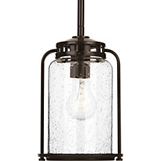 Collection Botta – Lanterne suspendue à ampoule unique, bronze antique