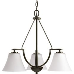 Progress Lighting Bravo Collection 3-light Antique Bronze Chandelier