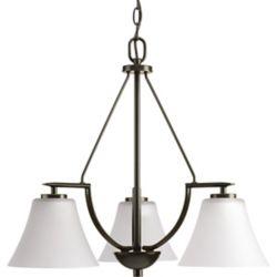Progress Lighting Collection Bravo – Lustre à troisampoules, bronze antique